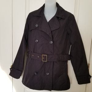 Eddie Bauer detachable lined black jacket, Small